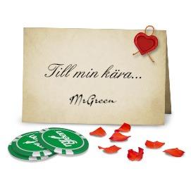 Presentkort från Mr Green på alla hjärtans dag