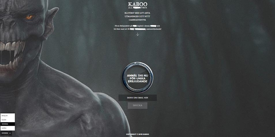 Kaboo Casino startsida