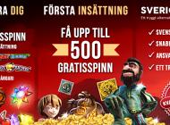 600 free spins hos trygga SverigeCasino