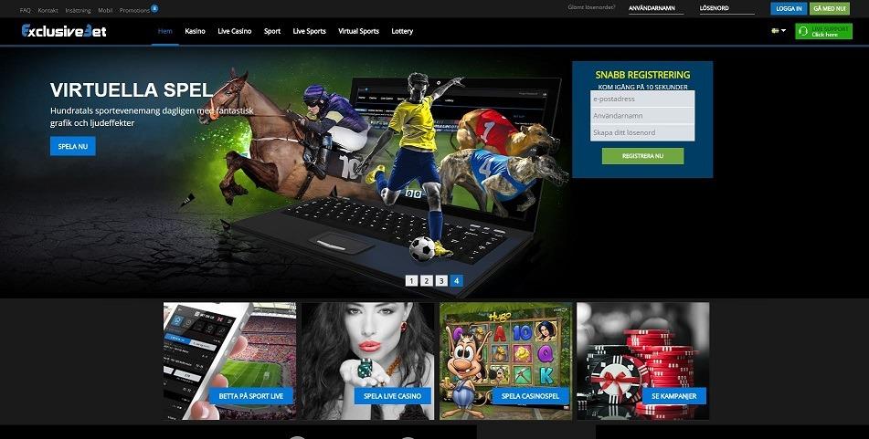 Spela med casinobonus hos ExclusiveBet