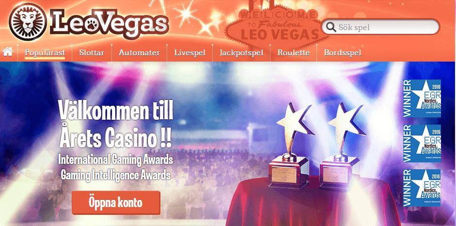 Sveriges största spelbolag, LeoVegas casino