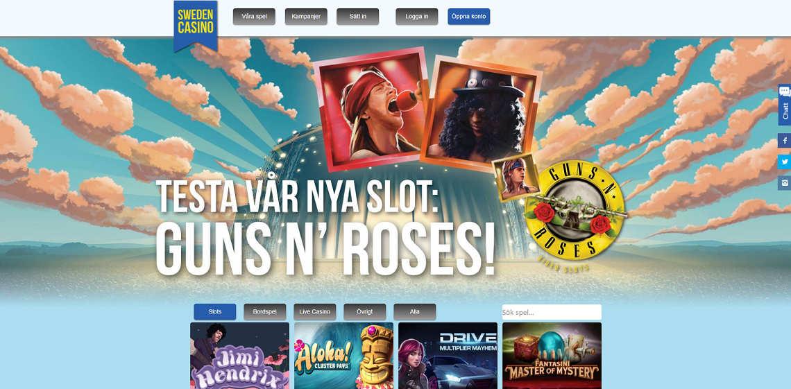 Spela hos det svenska casino SwedenCasino