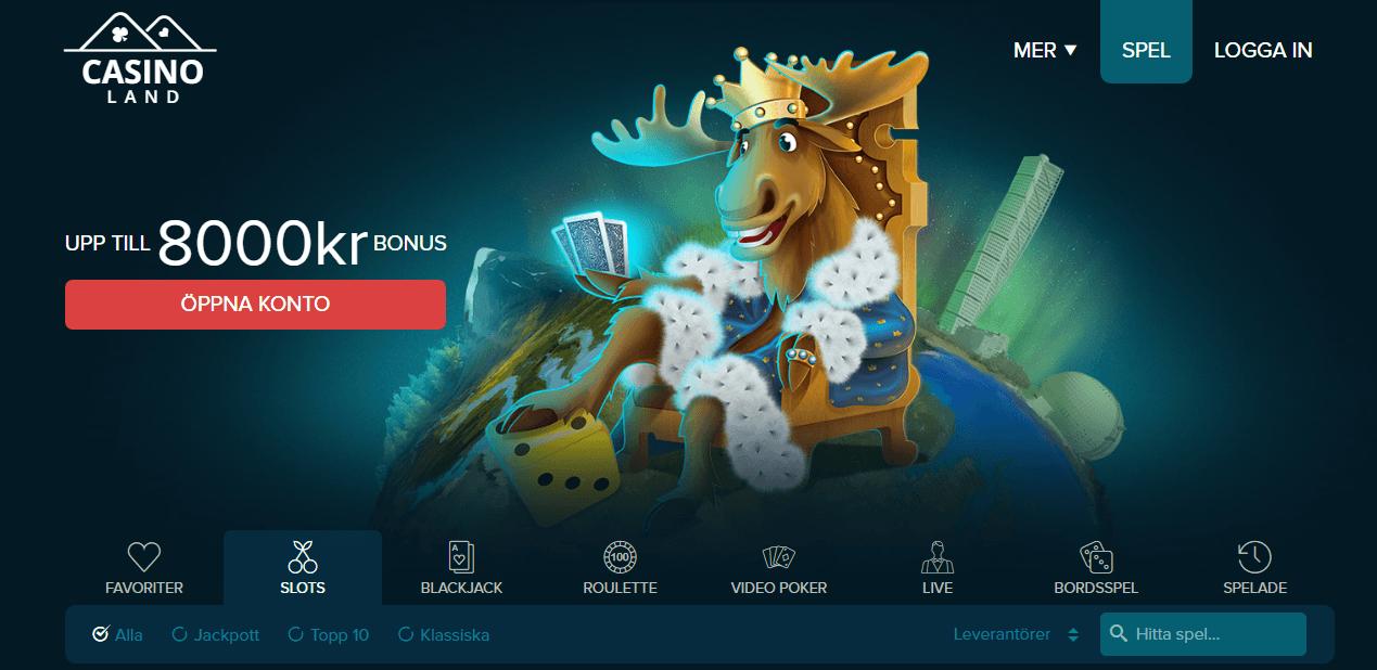 Spela gratis med bonuspengar hos CasinoLand