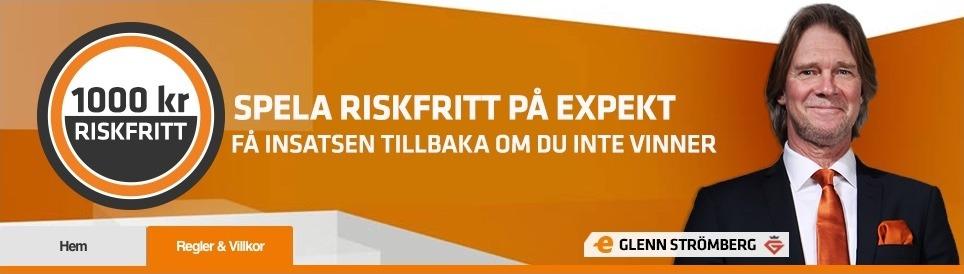 Bild av Expekts riskfria spel erbjudande med Glenn Strömberg