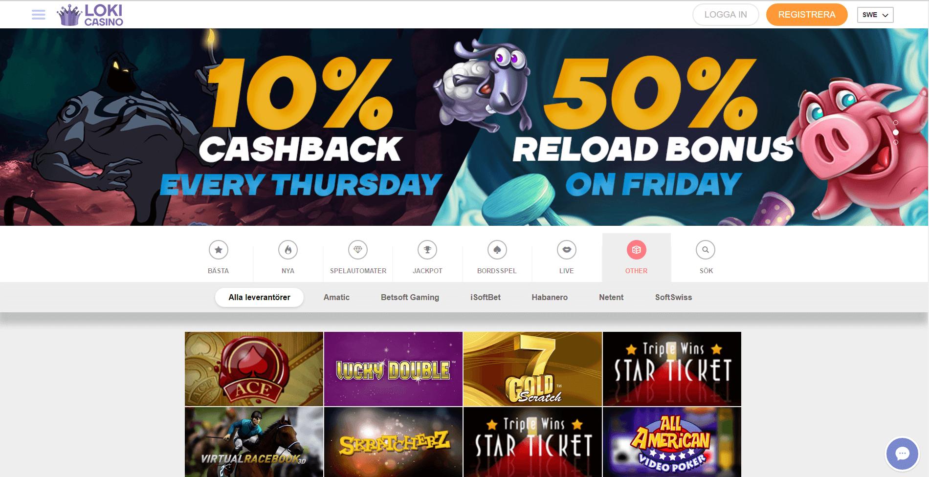 loki casino бонус код 2018
