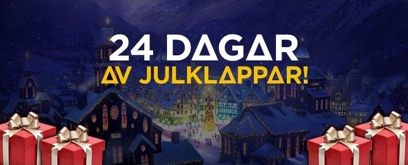 21Casino julkalender 24 dagar av julklappar
