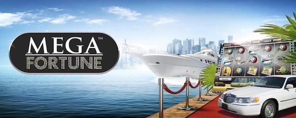 Mega Fortune free spins hos Cherry Casino