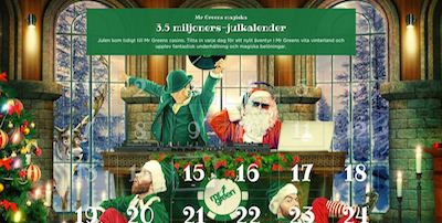 Mr Green julfest med julkalender