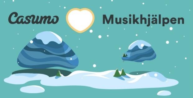 Bild som symboliserar den uppskattning som Casumo har för Musikhjälpen
