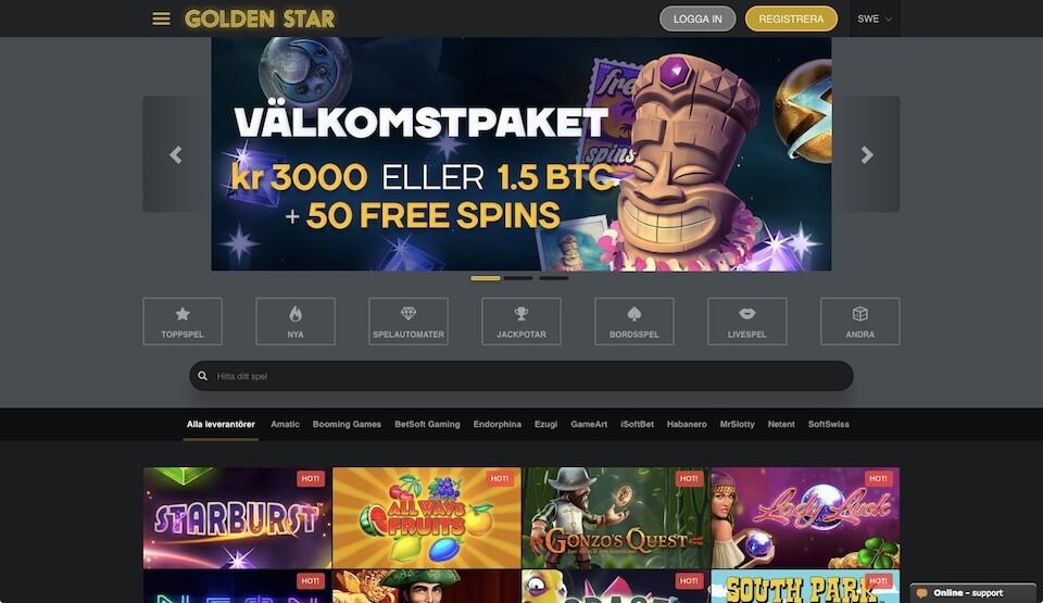 Spela med Golden Star Casino