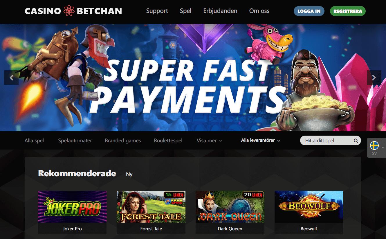 Spela på Betchan med free spins och bonus