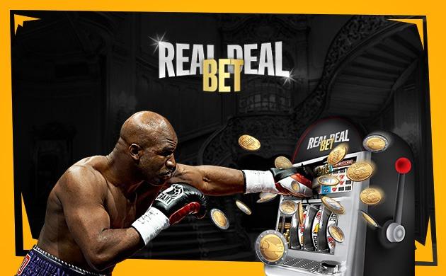 Spela på odds, sport och slots hos RealDealBet