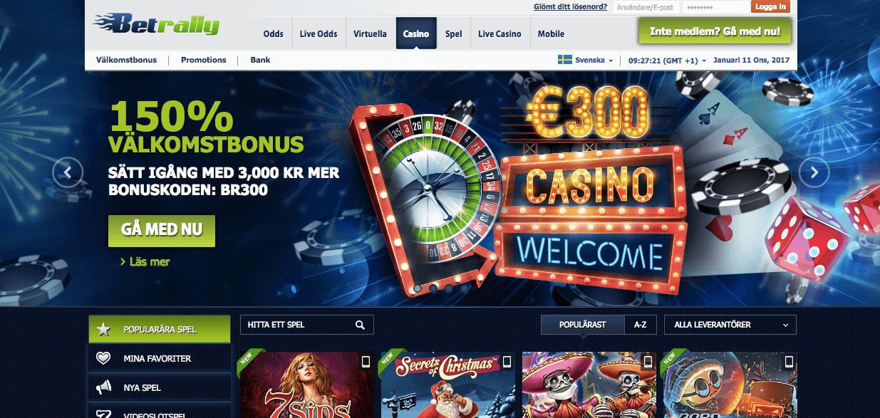 Spela på betrally casino