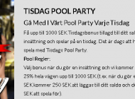 Häng med på pool party!