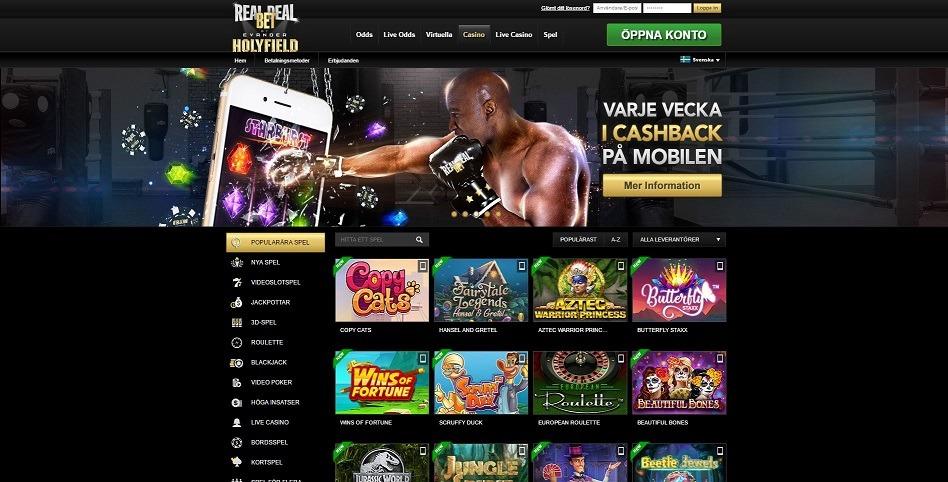 Spela med RealDealBet online