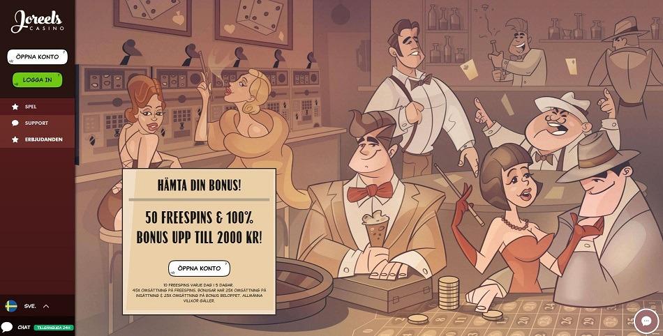 Spela på Joreels Casino slots med bonus och free spins