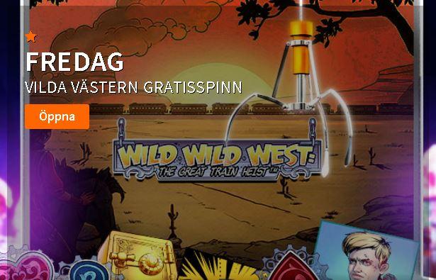 Wild wild west free spins hos Betsson Casino