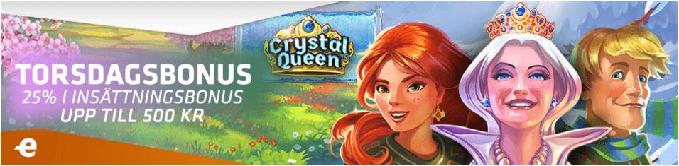 Expekt torsdagsbonus crystals queen slot