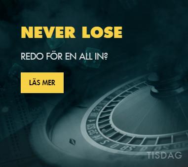 Tisdagar Never Lose kampanj hos BetHard