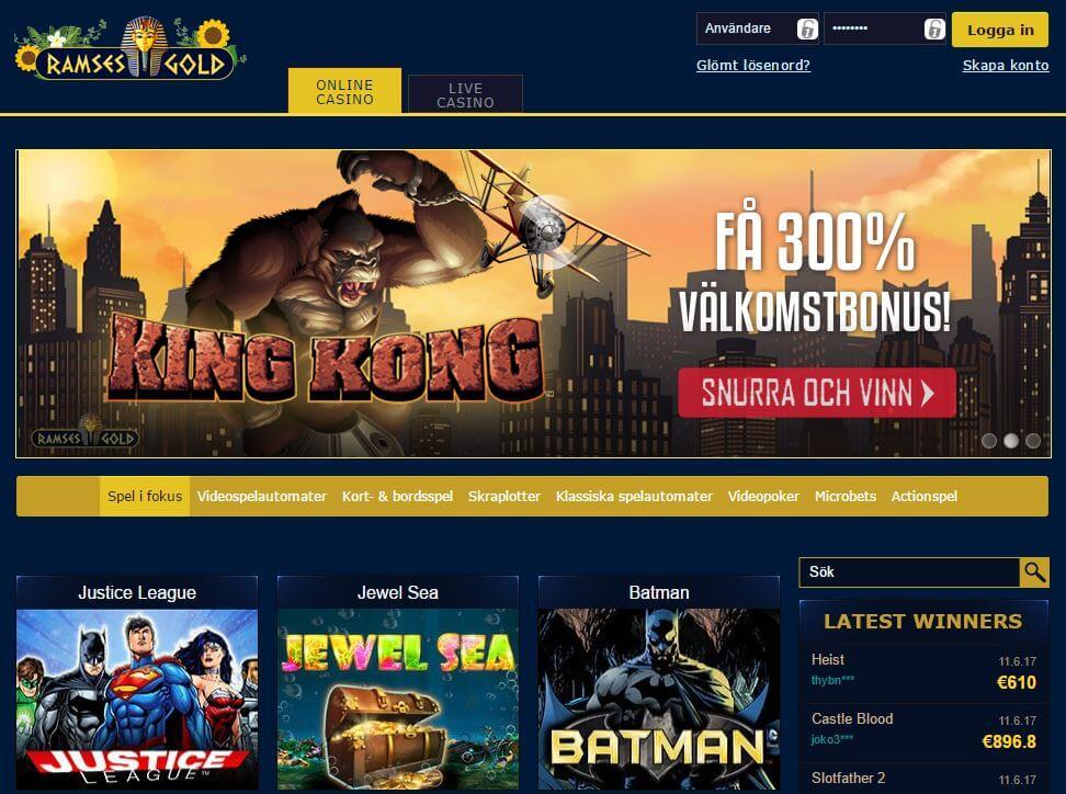 Ramses Gold casino sida