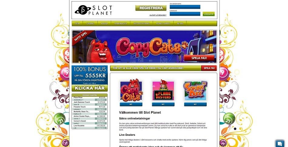 Spela hos Slot Planet casino, förra AmsterdamsCasino