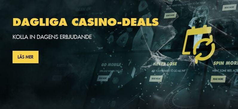 Dagliga casinodeals hos Bethard