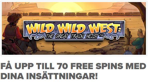 NinjaCasino free spins till Wild Wild West