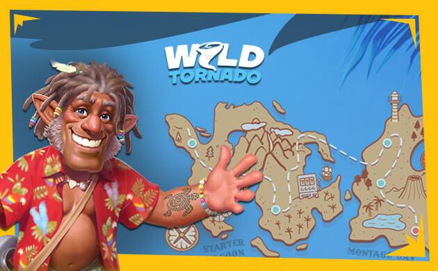 Wild Tornado Casino banner spela med massa casinobonus