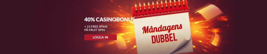 Måndagsdubbel bonus hos Guts Casino