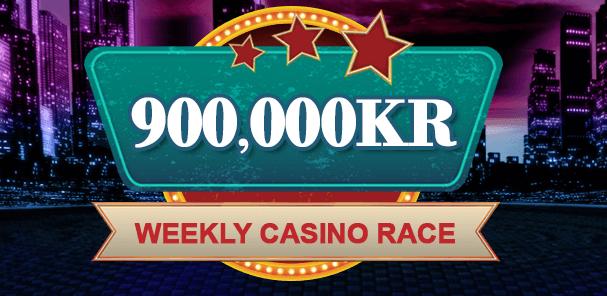Tävla om 900 000 kr i varje veckas casinorace hos Videoslots