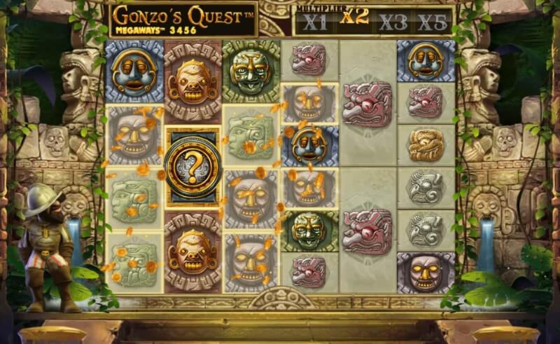 spelfunktioner i gonzo's quest megaways
