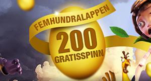 upp till 500 freespins hos SverigeCasino